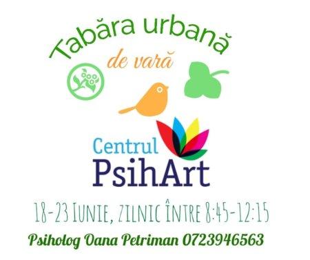 Tabara urbana la Centrul PsihArt 18-23 iunie